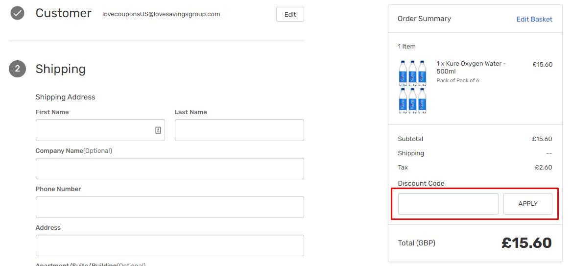 How do I use my Blukoo discount code?