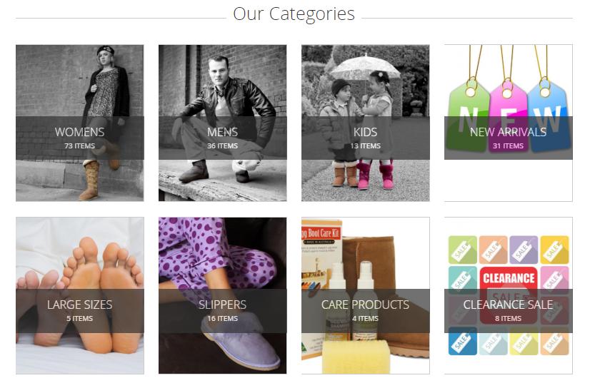 Australian Ugg Boots Categories