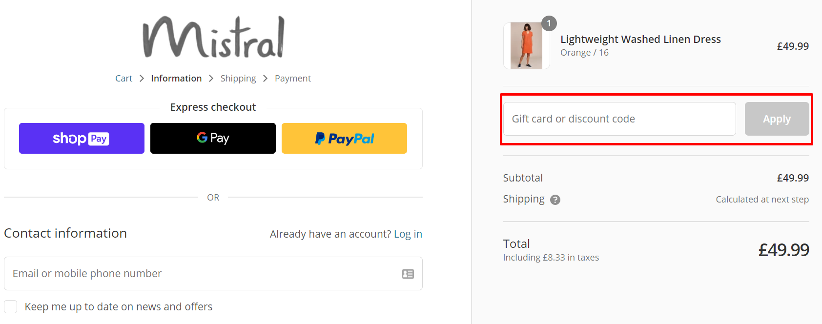 How do I use my Mistral discount code?