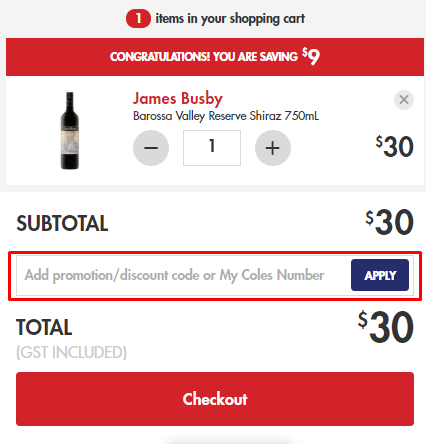 How do I use my First Choice Liquor promotion/discount code?