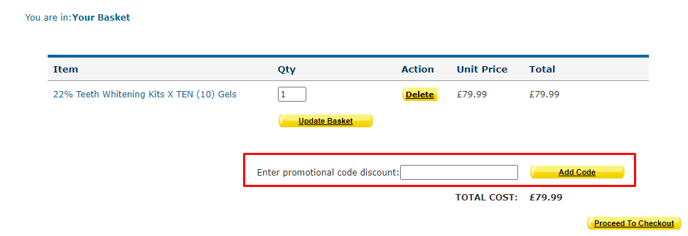 How do I use my Teeth Whitening Superstore promotion code?