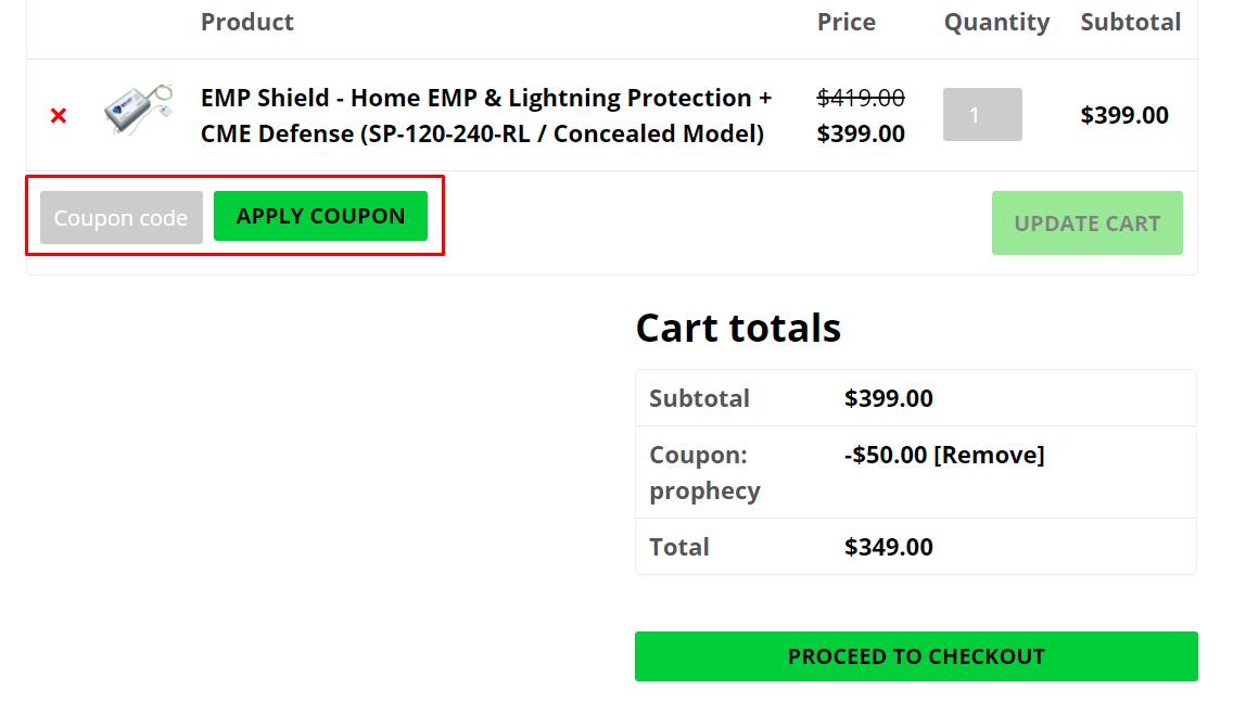 How do I use my EMP Shield coupon code?