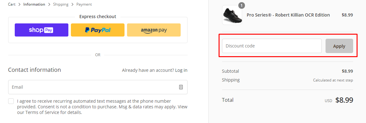 How do I use my Lock Laces discount code?