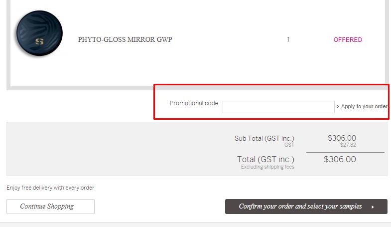How do I use my Sisley Paris promotional code?
