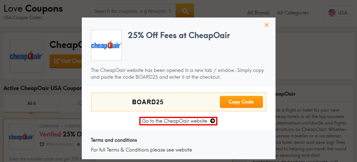 CheapOair Offer US