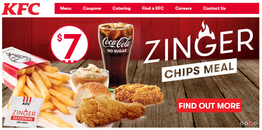 KFC Homepage