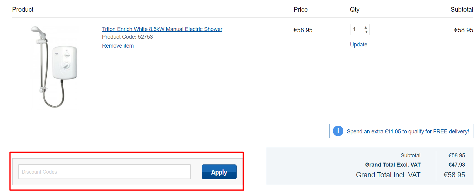 How do I use my Screwfix discount code?