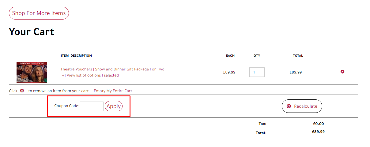 How do I use my Celebrate In London coupon code?