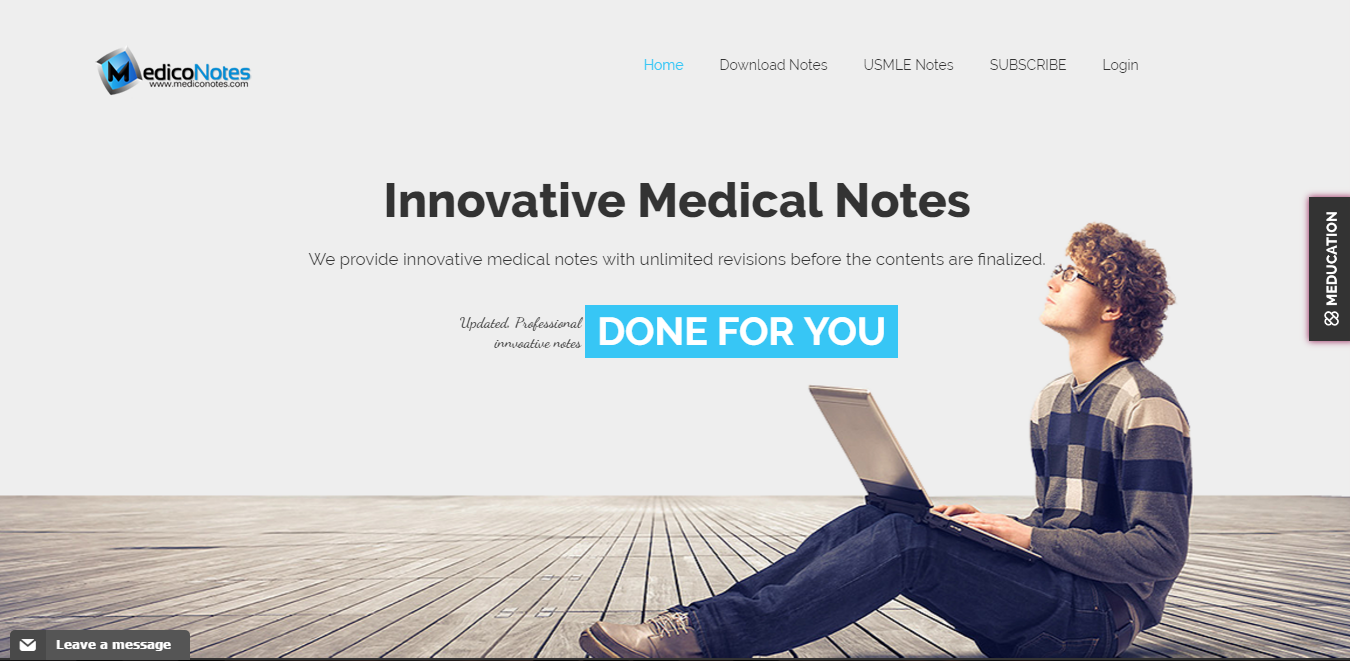 About MedicoNotes Homepage