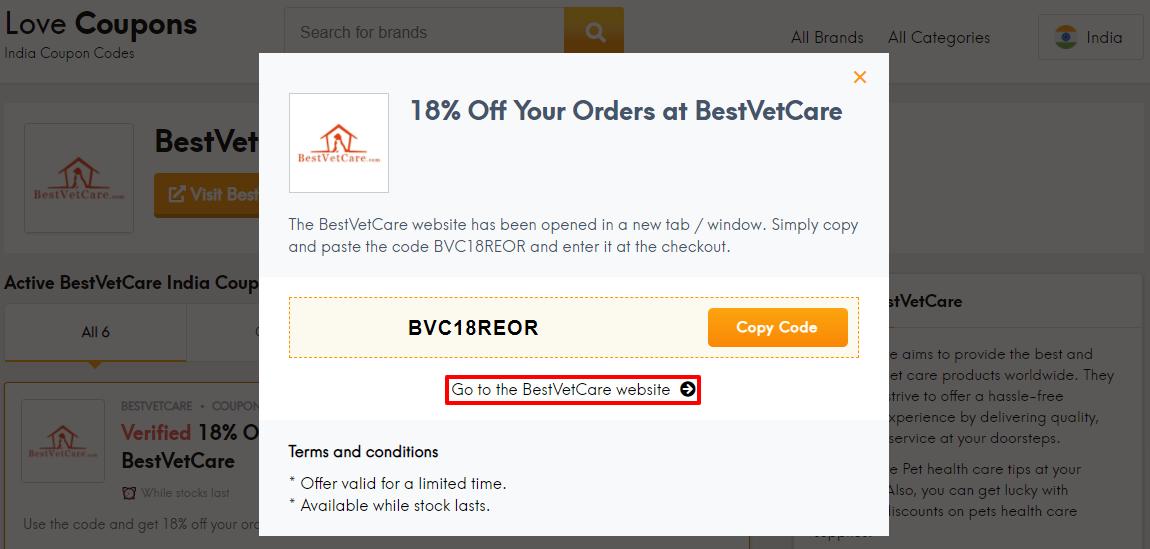 BestVetCare Offer IN