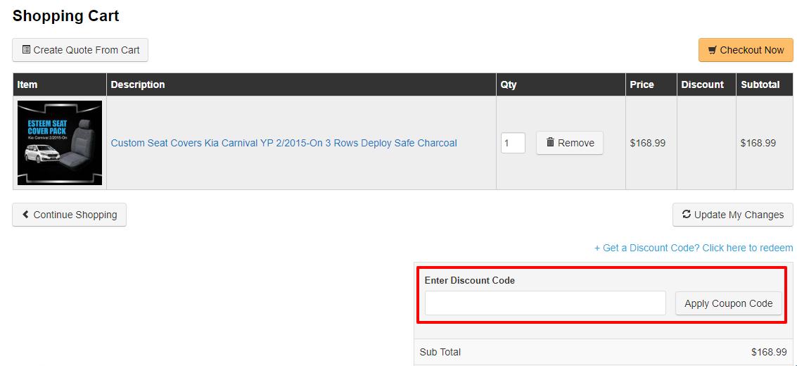 How do I use my Motoquipe discount code?