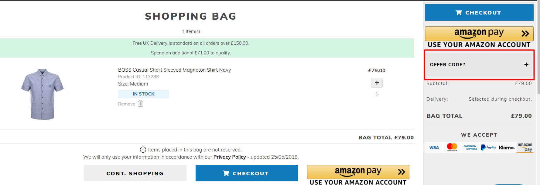 How do I use my Mainline Menswear discount code?