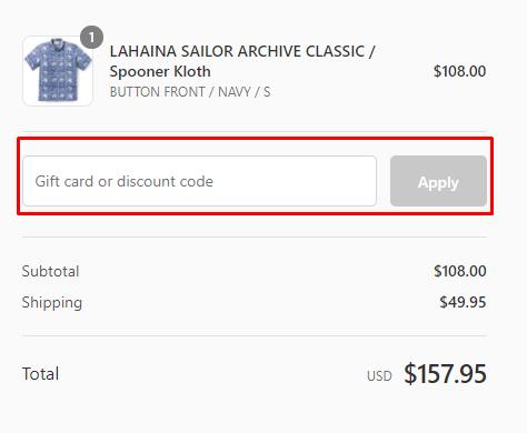 How do I use my Reyn Spooner discount code?