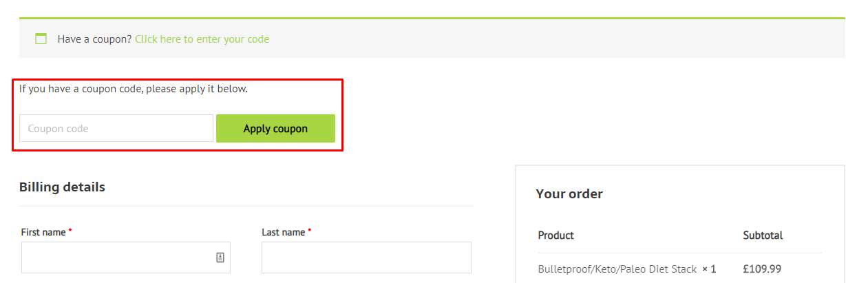 How do I use my Bioptimizers coupon code?