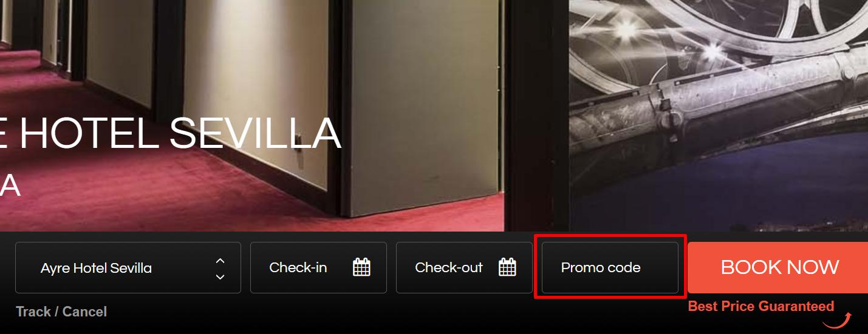 How do I use my Ayre Hoteles promo code?