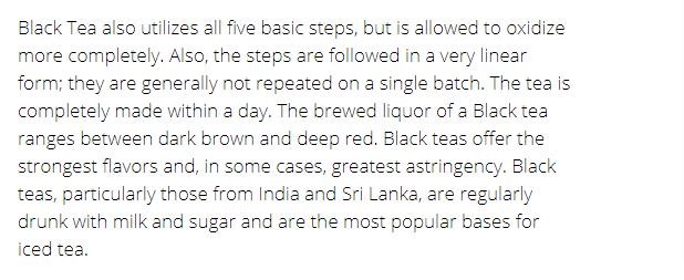 Adagios Teas tea info