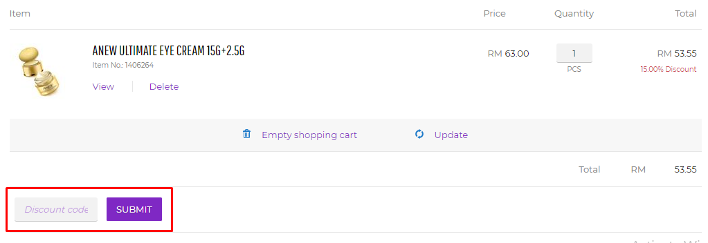 How do I use my Avon discount code?