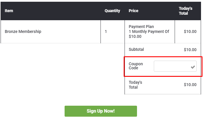 How do I use my The Harvest Plan coupon code?