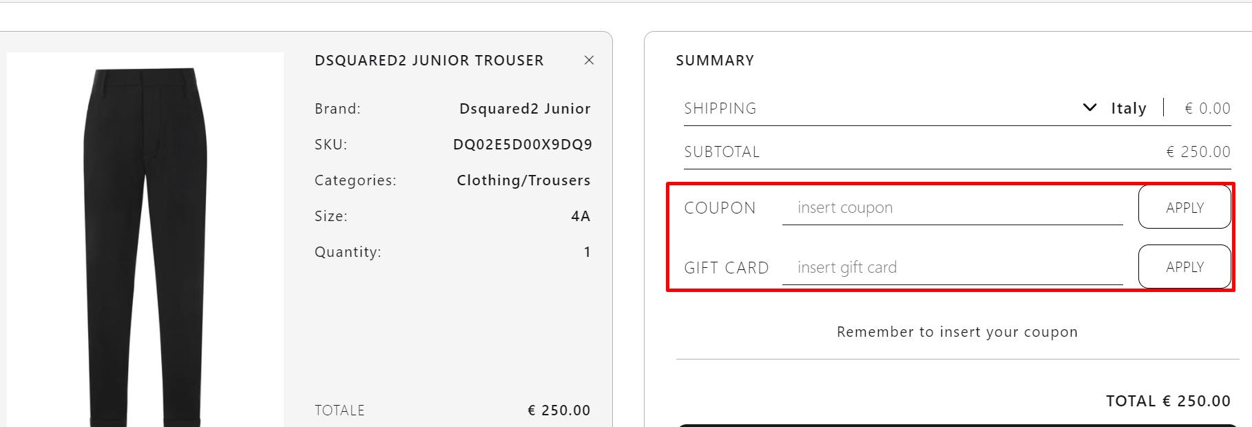 How do I use my Michele Franzese Moda coupon code?