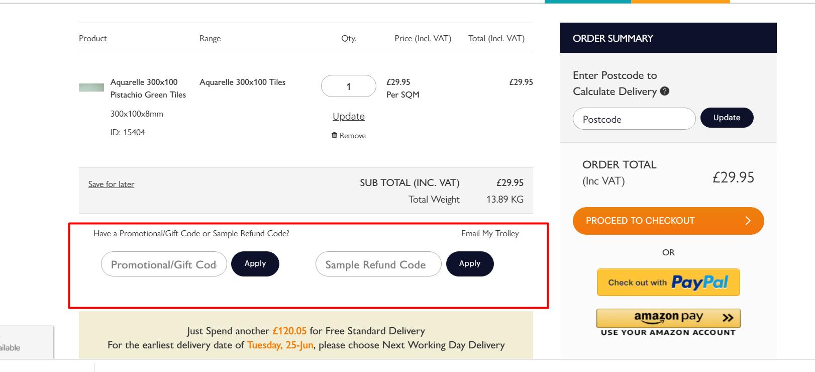 How do I use my A Quarter Of discount code?