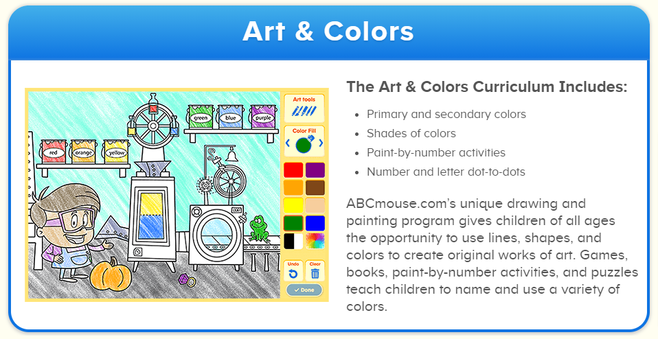 ABCmouse.com subjects