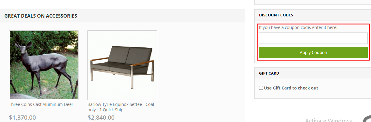 How do I use my Frontera Furniture coupon code?