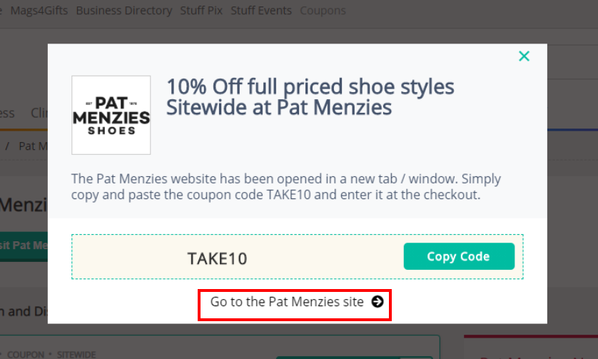 go to Pat Menzies Shoes site