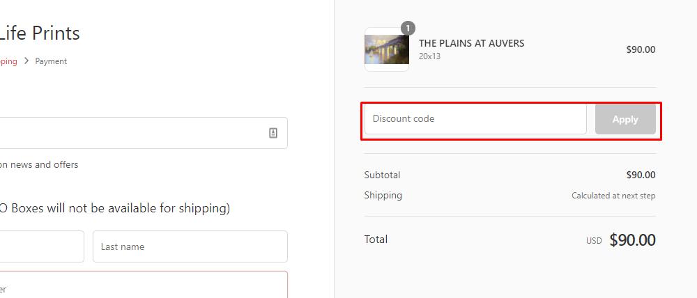 How do I use my LTLprints.com discount code?