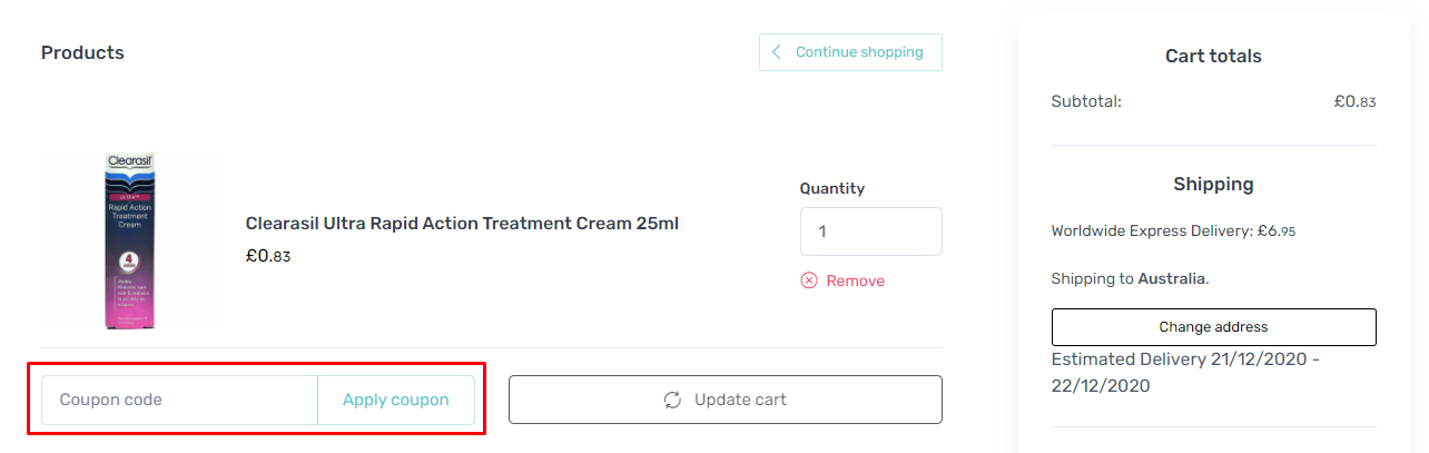 How do I use my The Beauty Store coupon code?