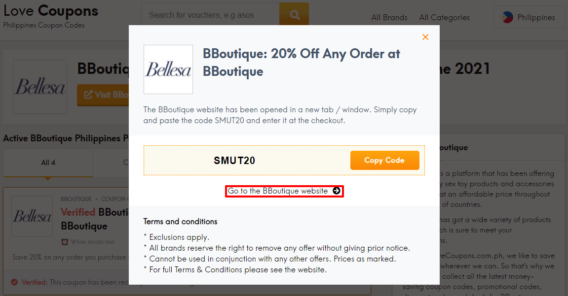 BBoutique Offer Code PH