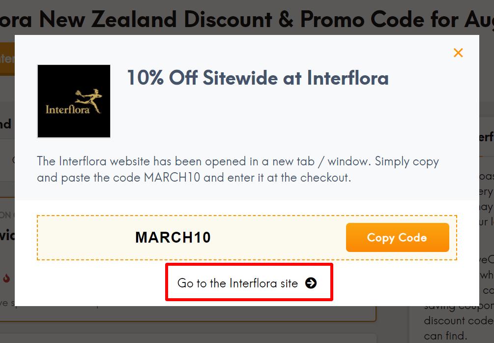 go to Interflora site NZ