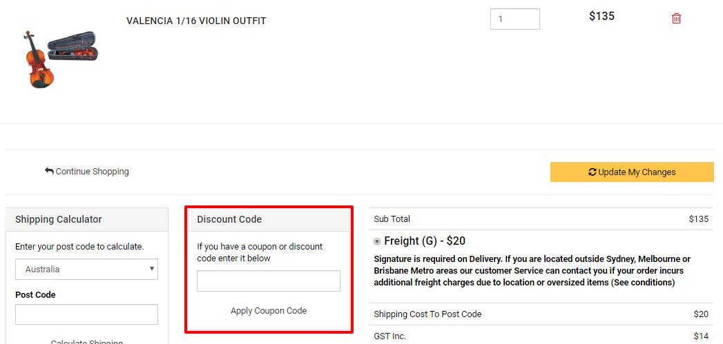 How do I use my Bavas Music City discount code?