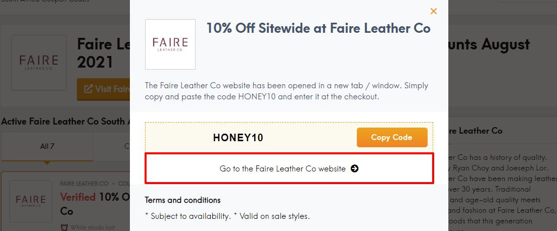 faire leather za