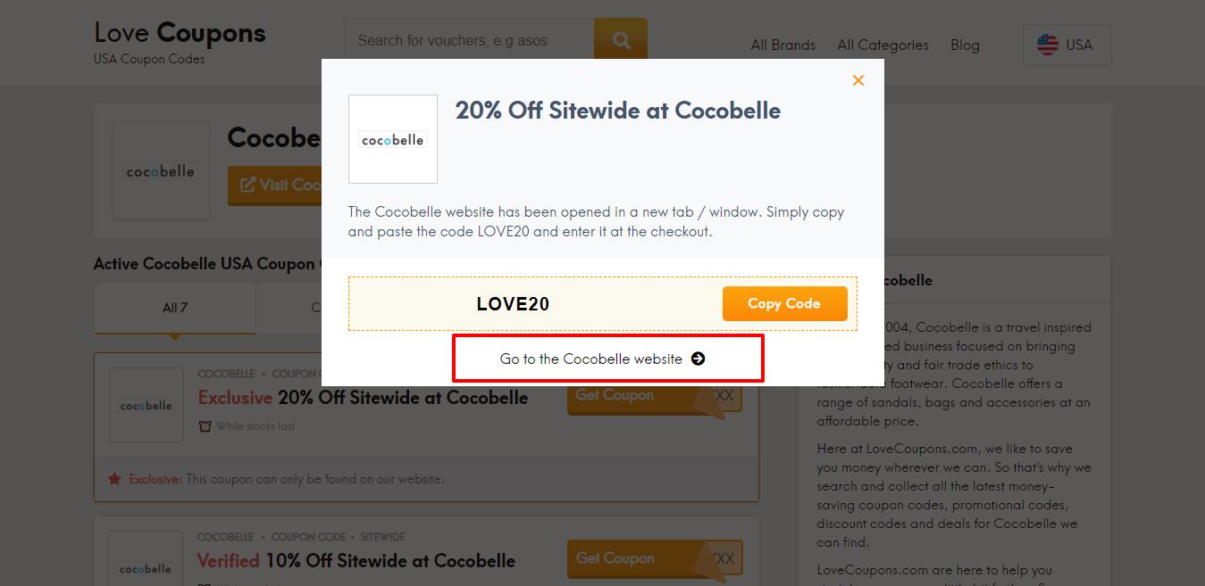 Cocobelle website