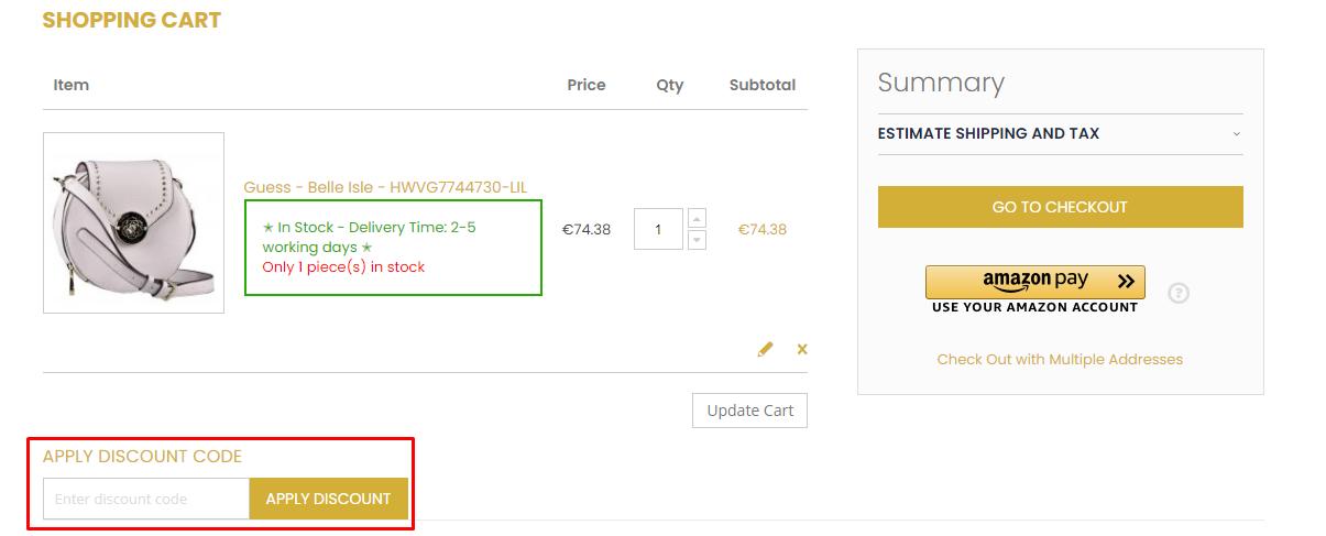How do I use my ELLA JUWELEN discount code?