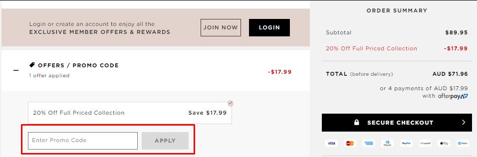 How do I use my MIMCO discount code?