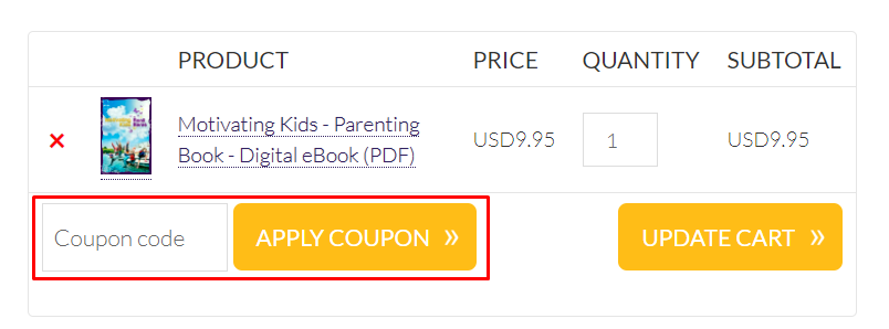 How do I use my Be Happy in LIFE coupon code?