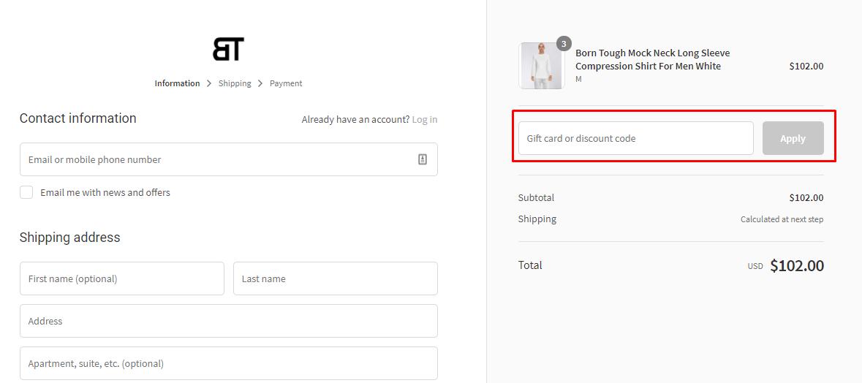 How do I use my Born Tough discount code?