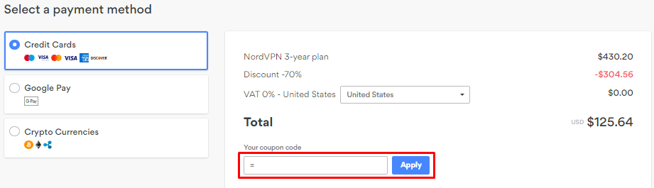 How do I use my NordVPN coupon code?