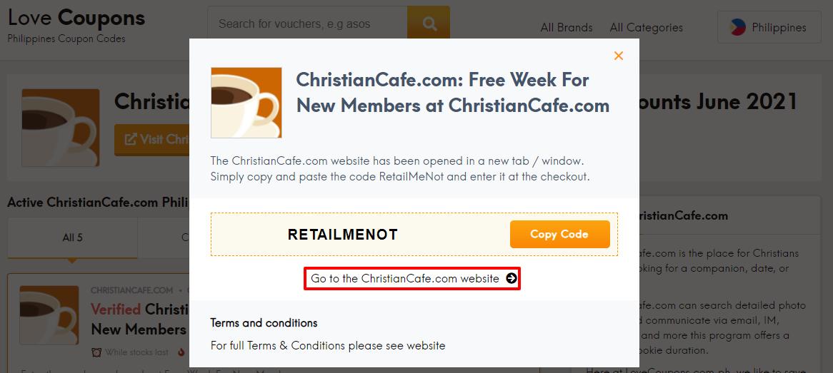ChristianCafe.com Offer PH