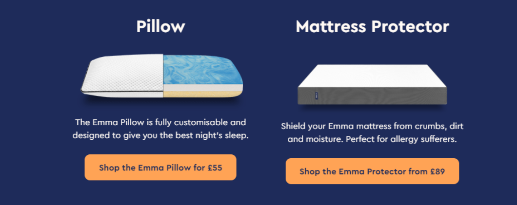 The perfect additions to your Emma Mattress