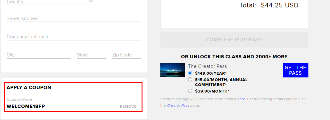 How do I use my CreativeLive coupon code?