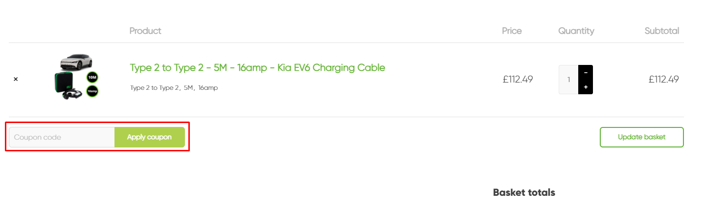 How do I use my EV King coupon code?