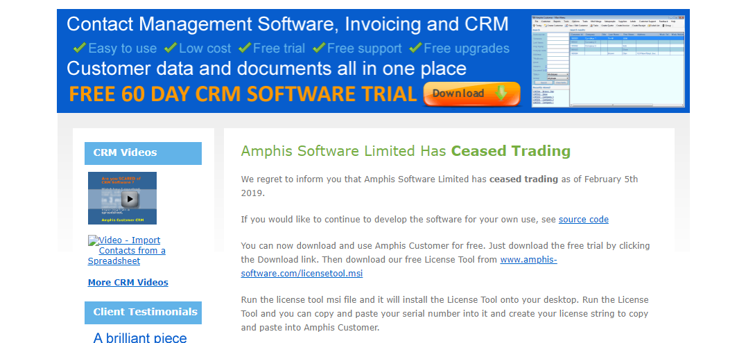 About Amphis Software Homepage