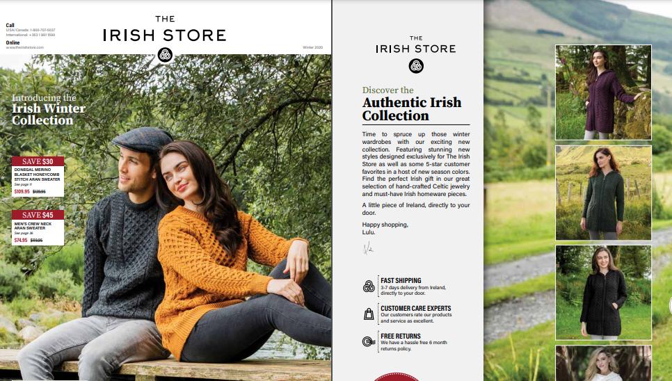 Irish store catalogue