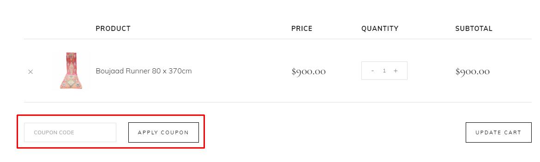 How do I use my Bazaaar coupon code?