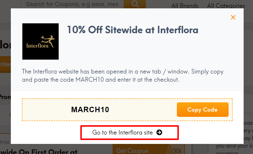 go to Interflora site