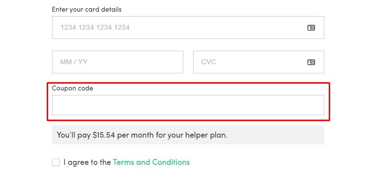How do I use my Ecologi coupon code?