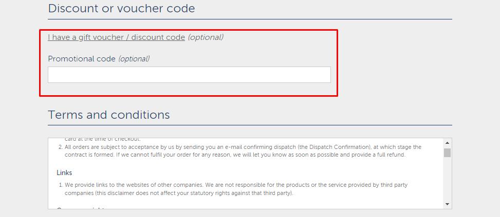 How do I use my British Corner Shop promotional code?
