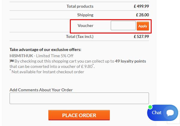 How do I use my Hismith voucher code?